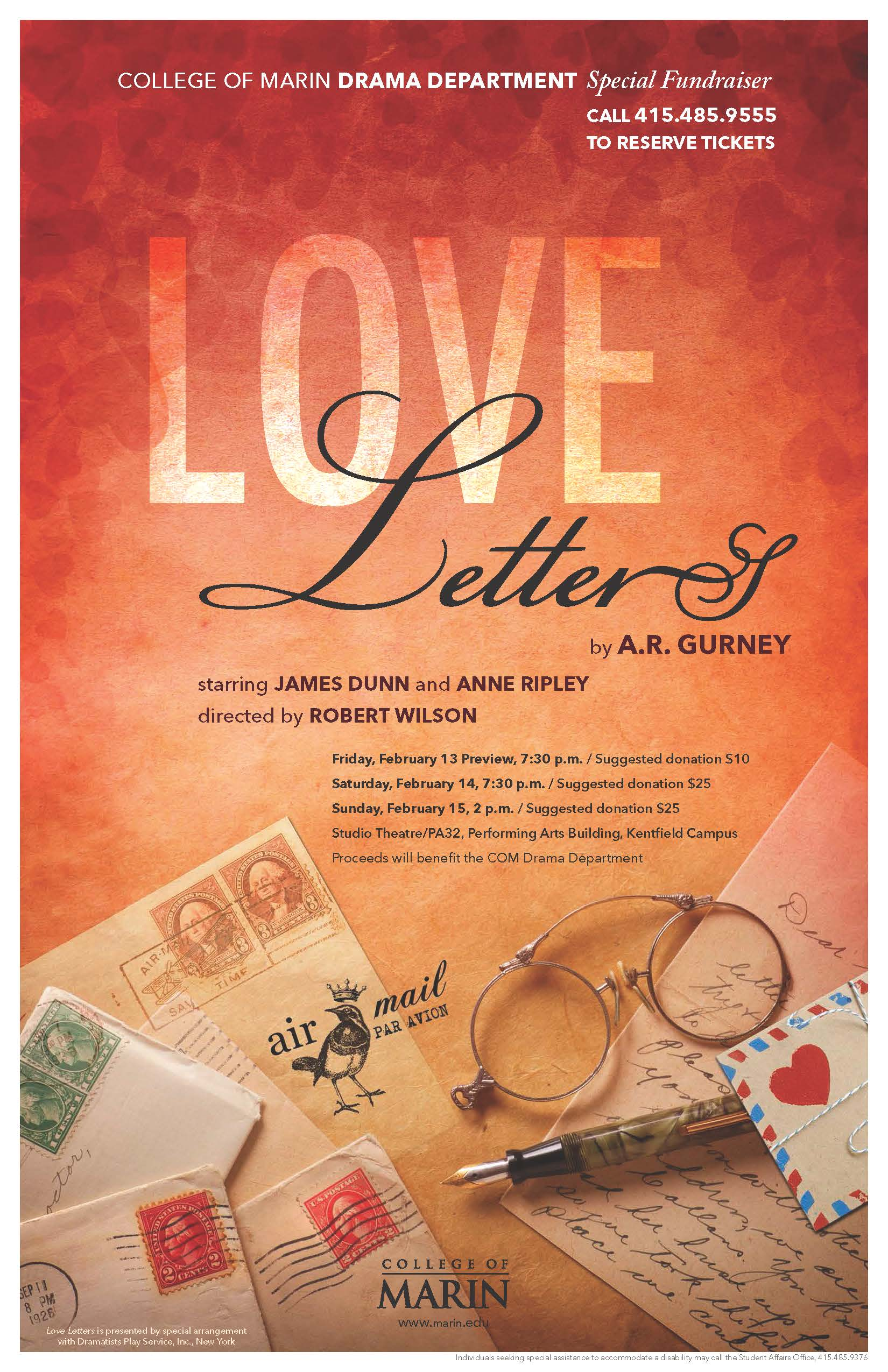 love letters by a r gurney pacific sun marin county california
