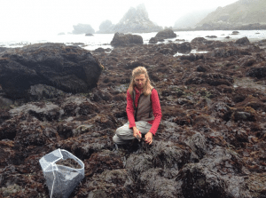 Heidi Herrmann, co-owner of Strong Arm Farm, is a commerical seaweed harvester.