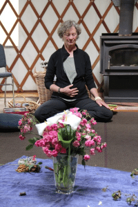 Chris Fortin leads a breathing exercise at the Honoring the Path of the Warrior retreat.