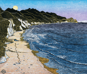 'Coast Camp,' by Tom Killion, is the artist's latest print, and just one of countless works of his native Marin.