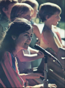 """Rita Abrams, who continues to sing and perform, went on to produce other songs with the children after the """"Mill Valley Song"""" made it big. Photo courtesy of Rita Abrams."""