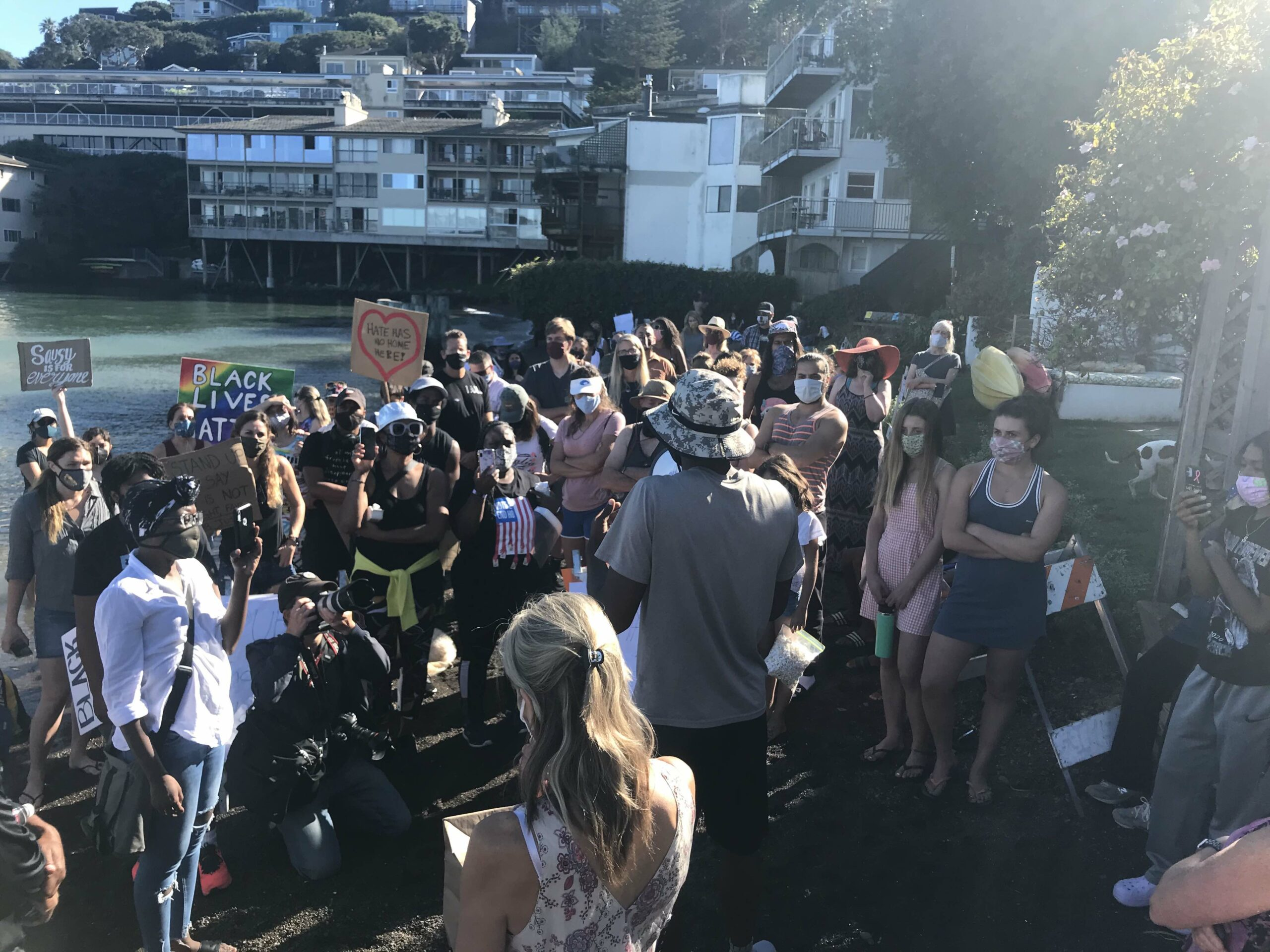 Swede's Beach protest Oct. 18, 2020