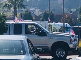 Donald Trump Truck Marin City California