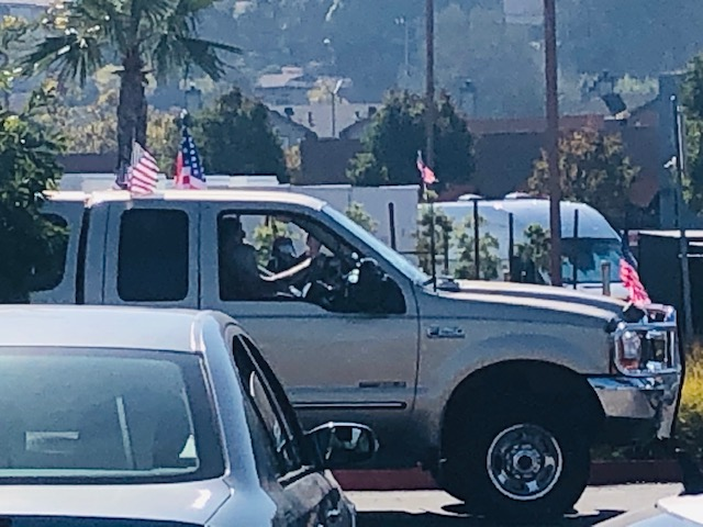 Donald Trump Truck Marin City California