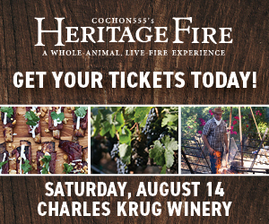 winery, outdoor cooking events in napa sonoma california