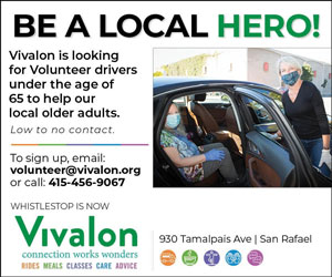 Vivalon San Rafael, whistlestop, rides meals classes, volunteer drivers wanted